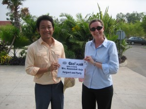 Unser Empfang in Kambodscha